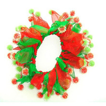 Charming Holiday Party Collar - Red/Green