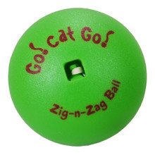 The unpredictable movements of the Zig-n-Zag ball will keep your kitty entertained for hours.