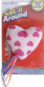 Cat'n Around Organic Catnip Heart Toy