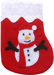 Snowman Stocking Catnip Cat Toy