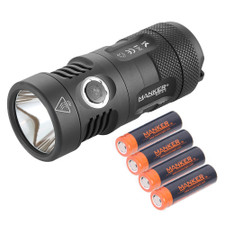 Bundle: Manker MK41 HI / HD  +  4x 750mAh 14500 Rechargeable Batteries