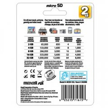 Maxell 2GB microSD Memory Card with SD Adapter