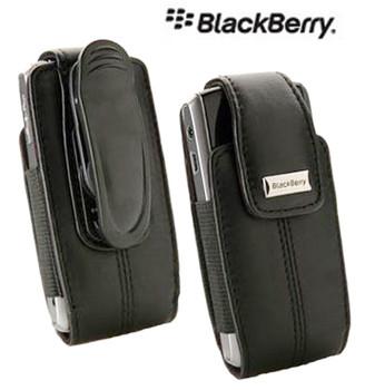 Original BlackBerry Pearl Series Leather Swivel Holster