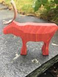 Vintage -  Handmade Reindeer Red