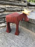 Vintage -  Handmade Moose Red