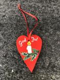 Skandinavisk Hemslöjd - God Jul Ornament Heart