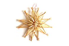 Hemslöjdsprodukter - Straw Star Decoration