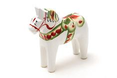 Nils Olsson Hemslöjd - Dala Horse White 15 cm