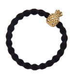 byEloise - Black Hair Tie with Pineapple Charm
