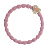 byEloise - Ballet Pink Hair Tie with Bling Heart