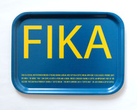 I Love Design - FIKA Tray Blue/Yellow