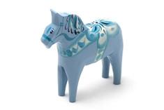 Nils Olsson Hemslöjd Dala Horse Light Blue