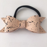 Svenskt Läder By Anna - Bow Hair Tie Sophia Speckled
