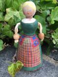 Vintage - Hand Painted Wodden doll from Värmland