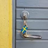 Pufz- Key-Ring, Swedish Flag