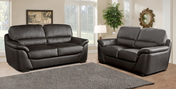 Torino 3 and 2 Seater Brown Leather Sofas