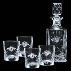 Ensemble de décanteur et 4 verres #4166