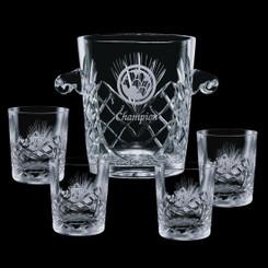 Sceau à glace avec 4 verres #4170