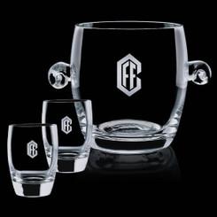 Sceau à glace Belfast avec deux verres #4211