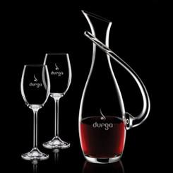 Carafe Uxbridge avec 2 Verres à Vin en Cristallin#1175