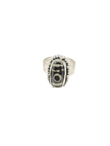 Hand crafted dzi bead ring
