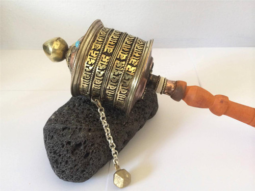 Large Hand Crafted Traditional Tibetan Prayer Wheel