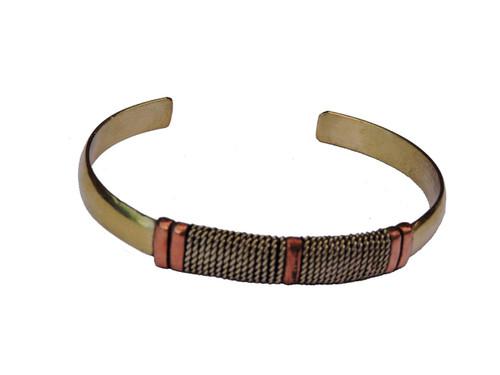 Handmade Three Metal Medicine Healing Bracelet