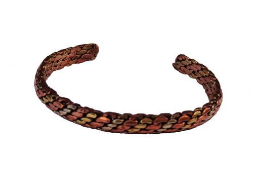 Twisted Three Metal Medicine Healing Bracelet