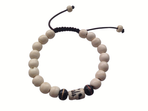 Yak bone Wrist mala with medicine beads Spacer