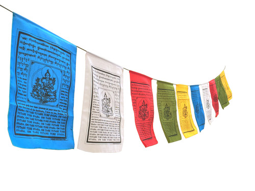 Large Exclusive Green Tara  Prayer Flags