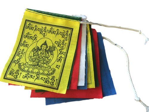 Mini Buddha Of Compassion prayer flags set of 10 flags