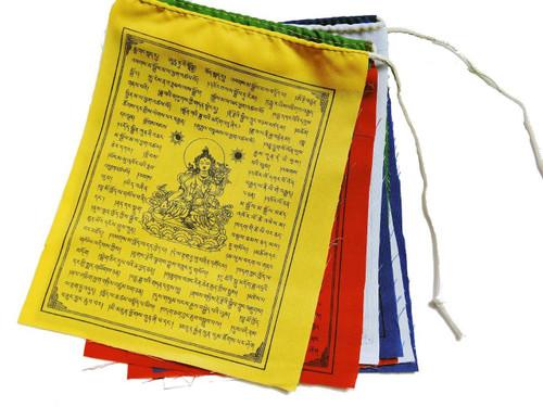 Tibetan Prayer Flags White Tara prayer flags 10 flags set