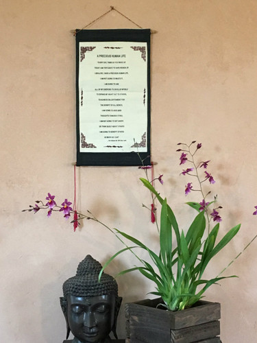 "A Precious Human Life"" Quote Scroll by the Dalai Lama"