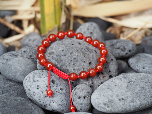 Handmade individually knotted carnelian power wrist mala yoga bracelet