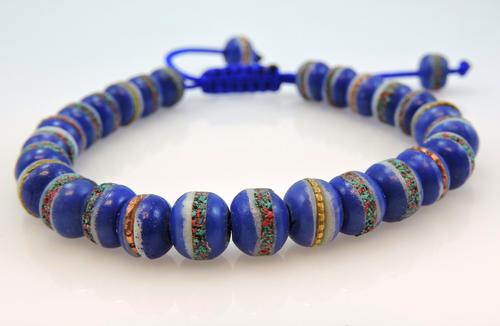 Tibet Healing Wrist mala yoga bracelet Blue