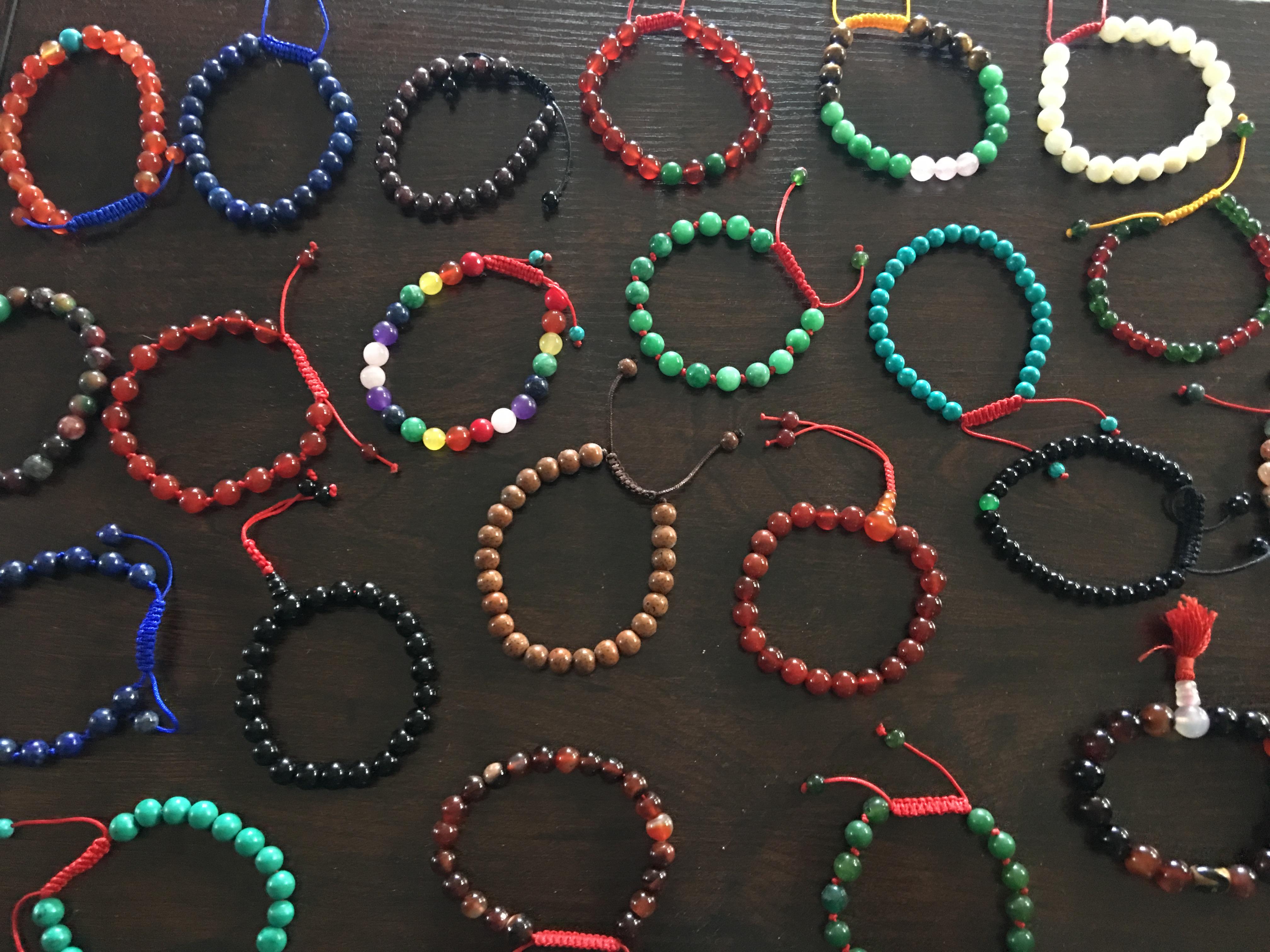 Hands Of Tibet's own Tibetan yoga Wrist mala bracelet