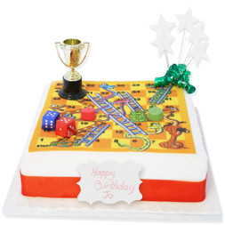 Snakes & Ladders Birthday Cake