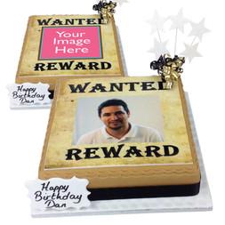 Wanted Photo Cake