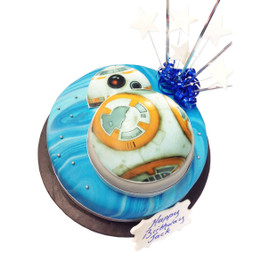 BB-8 Star Wars Birthday Cake