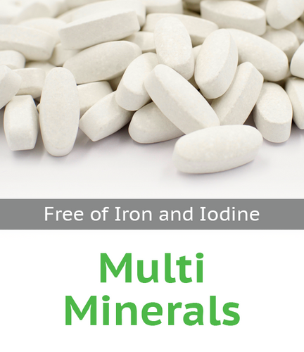 Multi Mineral Tablet Free of Iron and Iodine