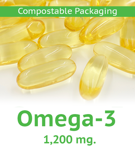 Omega-3 1,200 mg Softgel - 60 Count Compostable Bag
