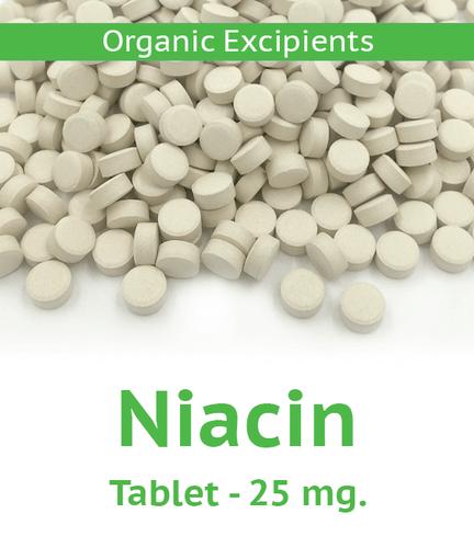 Niacin 25 mg Tablet - 100 Count Bag