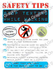 Safety Tip Don't Walk and Text