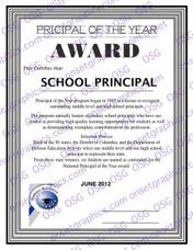 School Pricipal Award