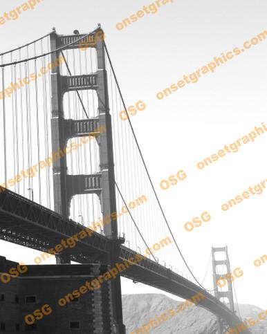 """8"""" x 10"""" San Francisco Bridge   B&W"""