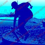 STAKE STICKER BLUE