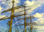 SAILS IN SKY WITH CLOUDS