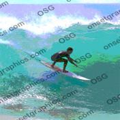SURFER STICKER POSTERIZED