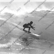 SURFER STICKER BLACK & WHITE
