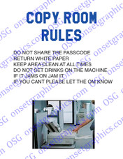 COPY ROOM RULES